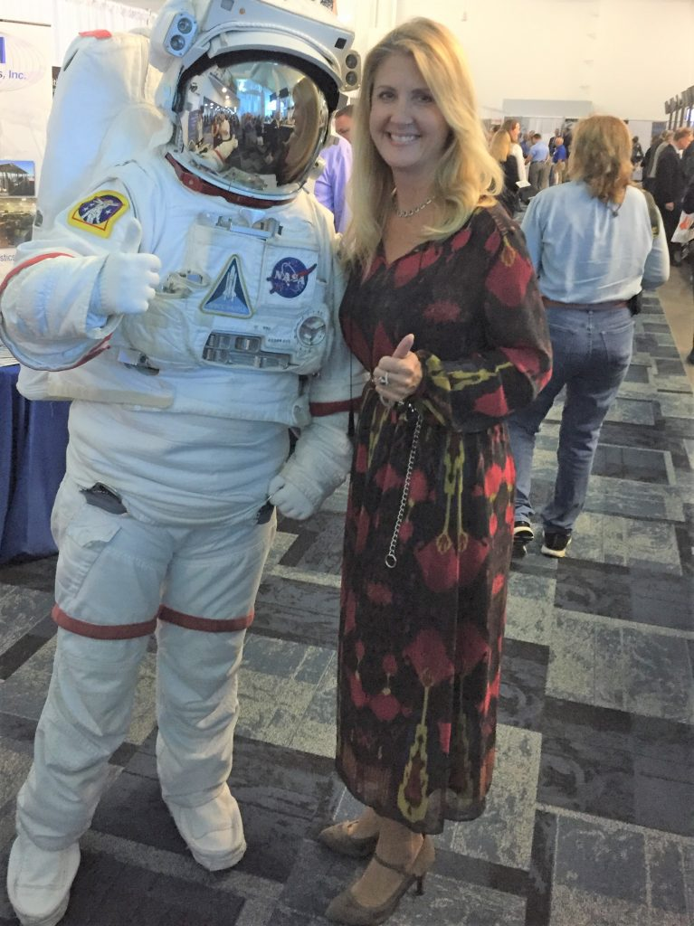 AECI's Denise Handel meets with a potential NASA customer